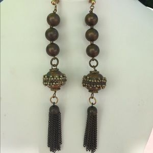 Jewelry - Copper color statement earrings